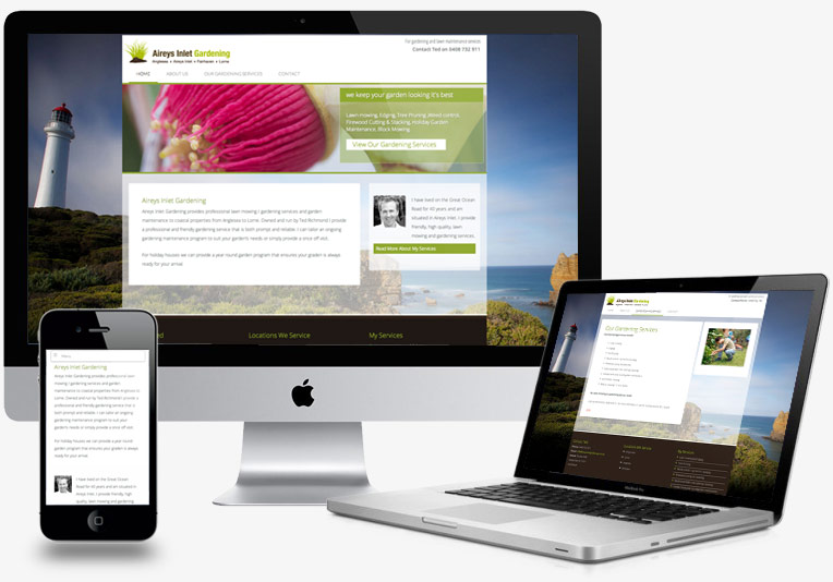 Aireys Inlet Gardening Services Website Design project image